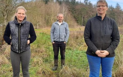 Martine de Vries, Jaap Mekel en Dorien Mekel.