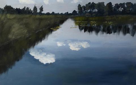 'Spiegelende wolken' van Dick Bakker.