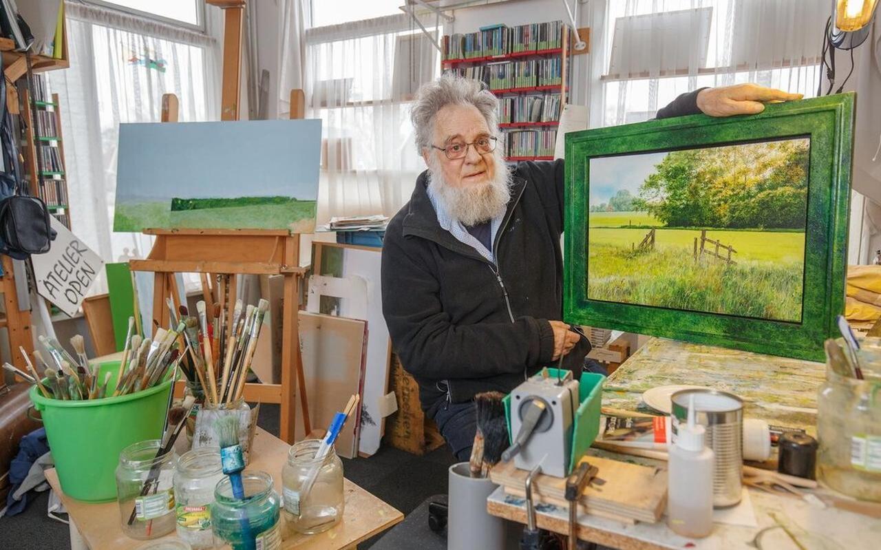 Wim Boom wilde de beste grasschilder van Nederland worden.