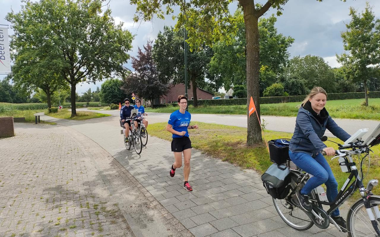 Kirsten Vos traint voor de Roparun.