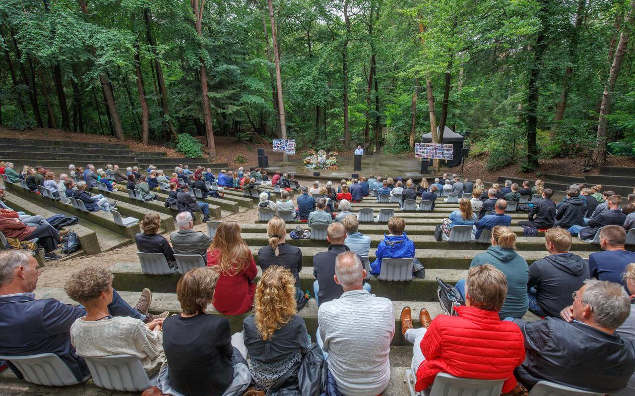 01-07-2021 Appelscha: uitvaart in het openluchttheater. Fotograaf: Rens Hooyenga
