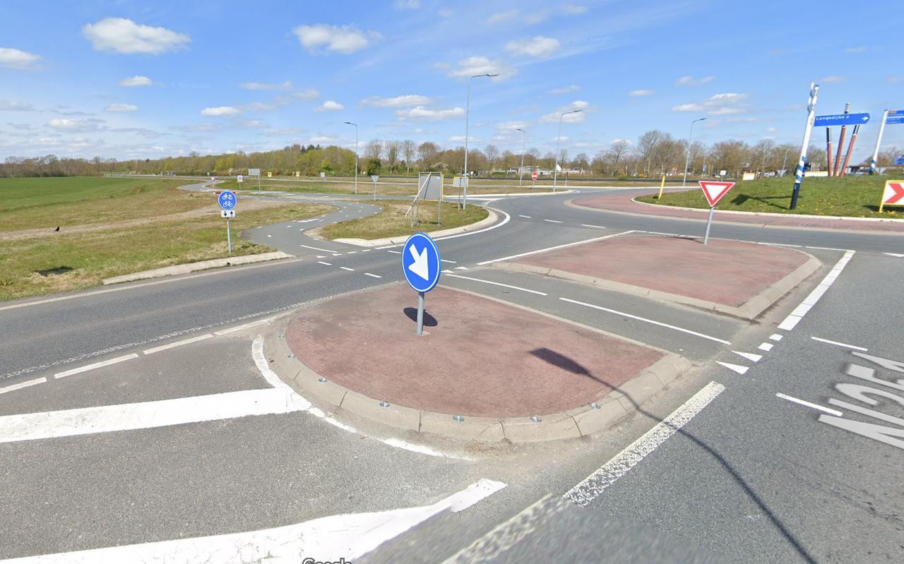 Het vervoerscentrum moet komen bij de afrit van de N381, ten zuidwesten van de kruising. Beeld Google Streetview